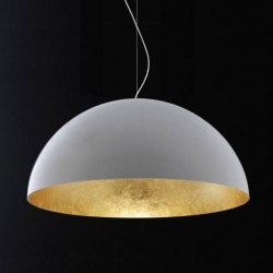Oluce Sonora 490 Gold Hanging Lamp