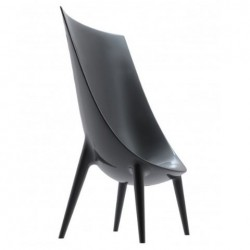 Driade Out-in High Backrest Armchair Antracite black