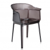 Kartell Papyrus Chair Fume brown