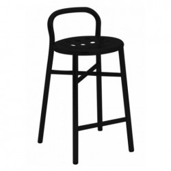 Magis Pipe Stool Frame and seat black