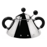 Alessi Michael Graves Sugar Bowl Black