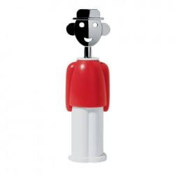 Alessi Alessandro M. Corkscrew Red and White