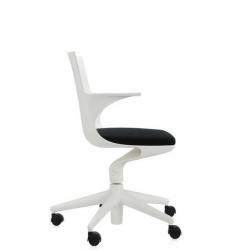 Kartell Spoon Chair White chair - black seat (03)