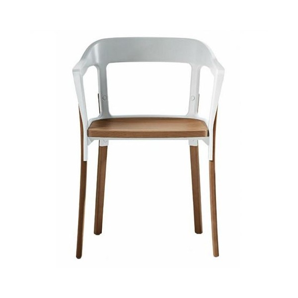 Magis Steelwood Chair White - Natural Beech