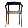 Magis Steelwood Chair Black - Natural Beech