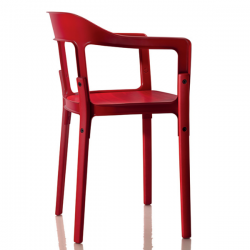 Magis Steelwood Chair Red 5083