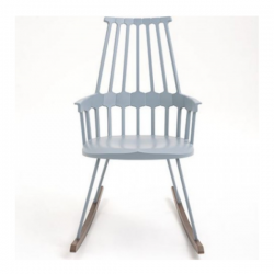 Kartell Comback Rocking Chair Grey/blue-oak