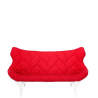 Kartell Foliage SofaWhite - Red Cloth