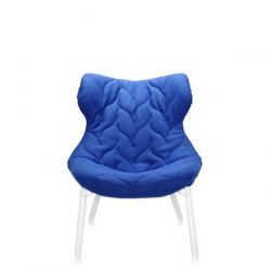 Kartell Foliage Chair White - Blue Cloth