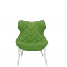 Kartell Foliage Chair White - Green Cloth
