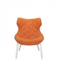 Kartell Foliage Chair White - Orange Trevira