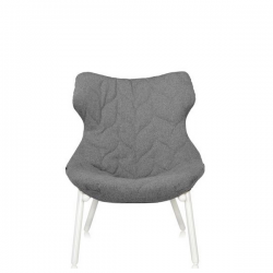 Kartell Foliage Chair White - Grey Trevira