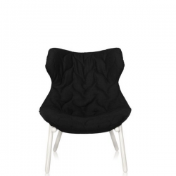 Kartell Foliage Chair White - Black Cloth