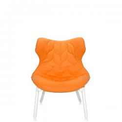 Kartell Foliage Chair White - Orange Cloth