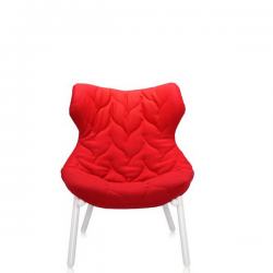 Kartell Foliage Chair White - Red Cloth