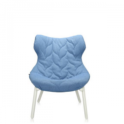 Kartell Foliage Chair White - Blue Trevira