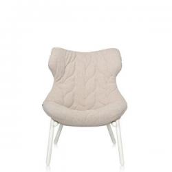 Kartell Foliage Chair White - Beige Trevira
