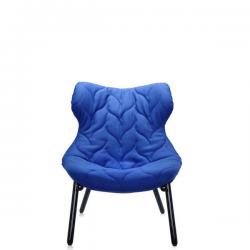 Kartell Foliage Chair Black  - Blue Cloth