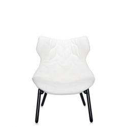 Kartell Foliage Chair Black - White Cloth