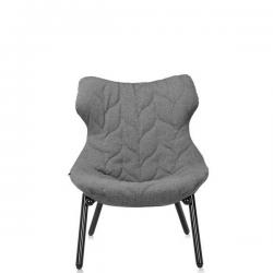 Kartell Foliage Chair Black - Grey Trevira