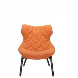 Kartell Foliage Chair Black - Orange Cloth