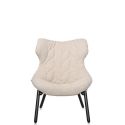 Kartell Foliage Chair Black - Beige Trevira