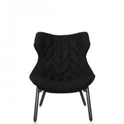Kartell Foliage Chair Black - Black Cloth