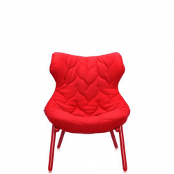 Kartell Foliage Chair Red - Red Cloth
