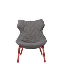 Kartell Foliage Chair Red - Grey Trevira