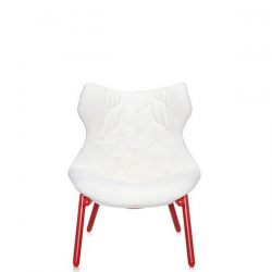 Kartell Foliage Chair Red - White Cloth