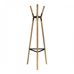Magis Steelwood Coat Stand Beech and Black frame