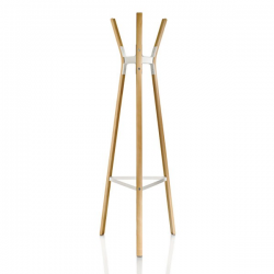 Magis Steelwood Coat Stand Beech and white frame
