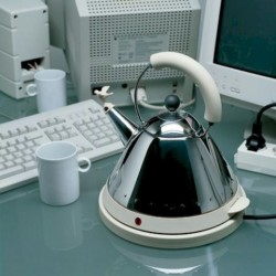 Alessi Michael Graves Electric Water Kettle White
