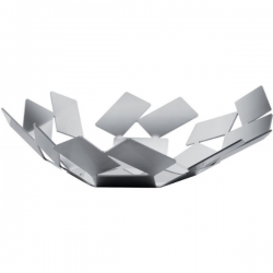 Alessi La Stanza Basket Cover Polished stainless steel