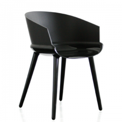 Magis Cyborg Ply Chair Black/black ash back