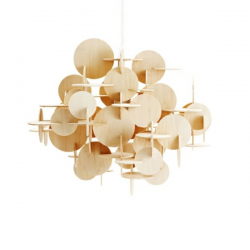 Normann Copenhagen Bau Pendant Natural wood