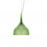 Kartell E Hanging Lamp Transparent Green