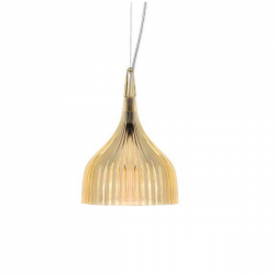 Kartell E Hanging Lamp Transparent Yellow