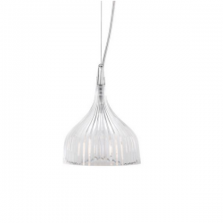 Kartell E Hanging Lamp Crystal