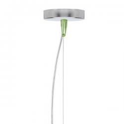 Kartell E Hanging Lamp Transparent Green
