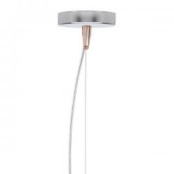 Kartell E Hanging Lamp Transparent Pink