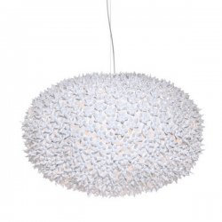 Kartell Bloom Pendant Round Lamp Glossy White