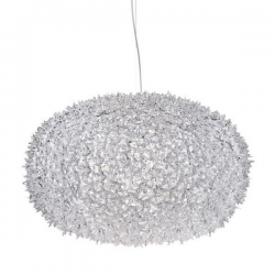Kartell Bloom Pendant Round Lamp Crystal