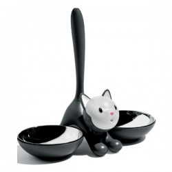 Alessi Tigrito Cat Bowl Black