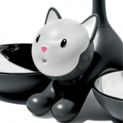 Alessi Tigrito Cat Bowl Black