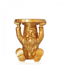 Kartell Attila Gnome Table Stool Gold