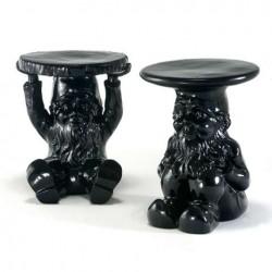 Kartell Attila Gnome Table Stool Black