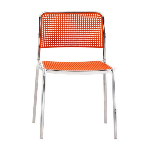 Kartell Audrey Polished Aluminium Frame Chair L5 Polished - Orange