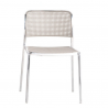Kartell Audrey Polished Aluminium Frame Chair  L1 Polished - White
