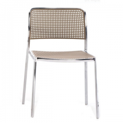 Kartell Audrey Polished Aluminium Frame Chair L4 Polished - Sand